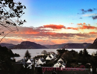 Sunset - over Plockton Village