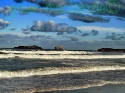 Yellowcraigs Beach - Foaming Waves