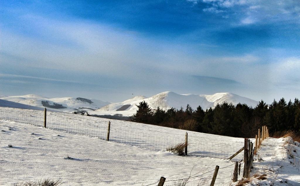 Snow on the Pentlands- Jan 26 2013