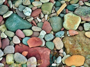 Sea smoothed stones