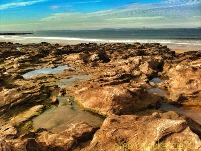 Sea carved stonescape
