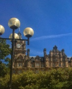Round lights, round clock, round windows - Edinburgh