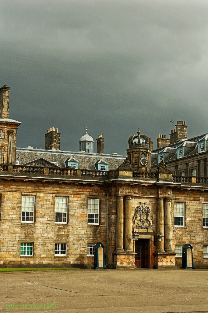 Front door, Holyrood Palace