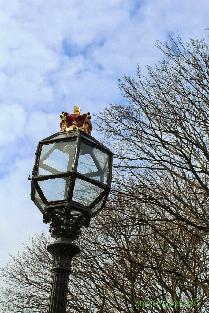 Royal street lamp - Holyrood Palace, Edinburgh