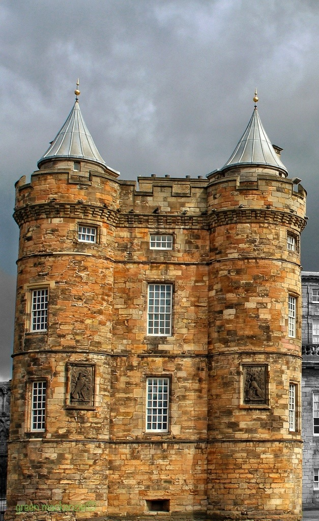 Twin Towers - Holyrood Palace, Edinburgh