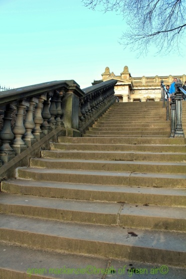 Steps to the Mound from Princes Street Gardens