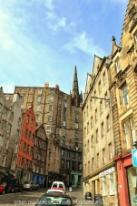 The foot of Victoria Street from the Grassmarket
