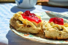 Fruit Scones with jam and clotted cream